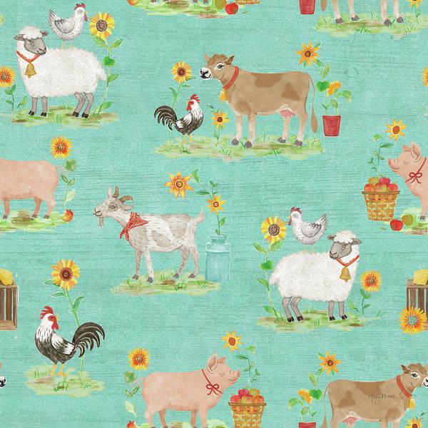 Wall Art - Painting - Farm Market Pattern Viib by Mary Urban