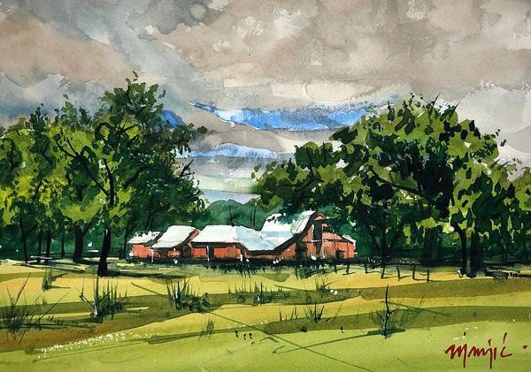 Wall Art - Painting - Farm On 75th Street by Ugljesa Janjic
