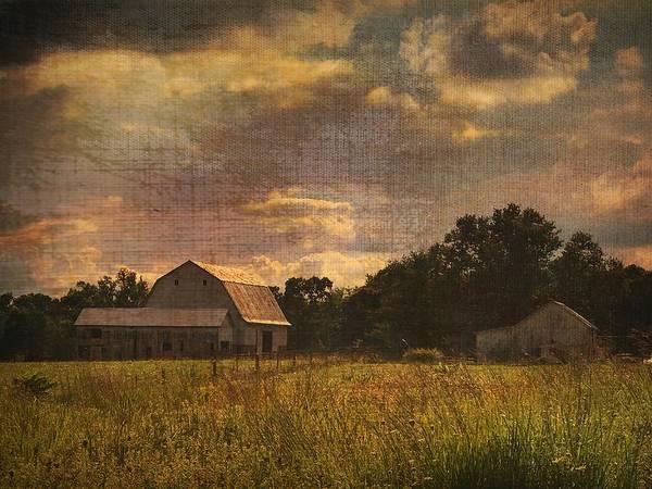 Photograph - Farm On Burlap by Jack Wilson