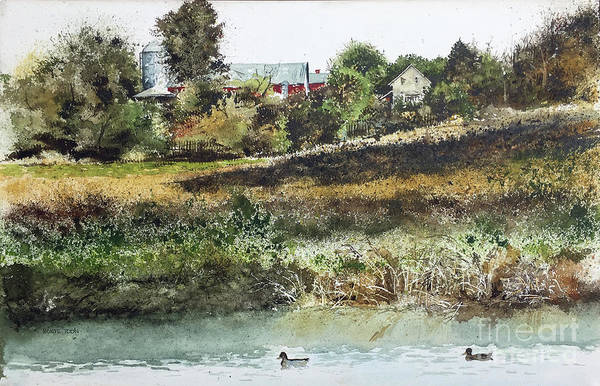 Painting - Farm Pond by Monte Toon
