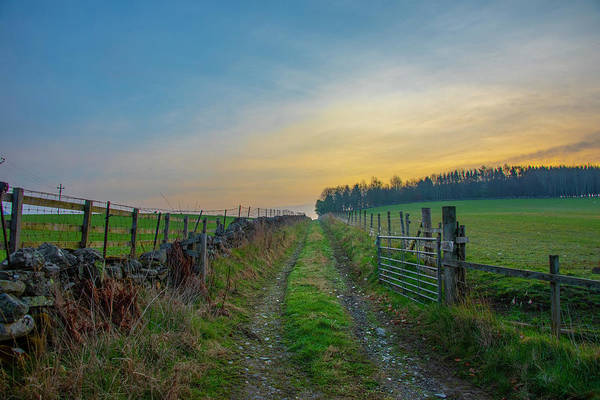 Photograph - Farm Road - Pitlochery Scotland by Bill Cannon