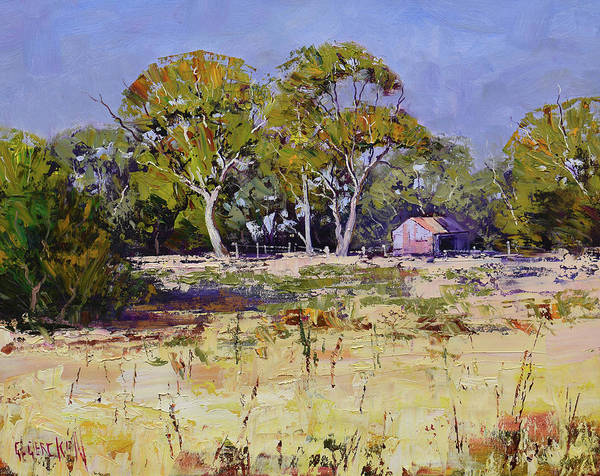 Wall Art - Painting - Farm Sheds Whittlesea  by Graham Gercken