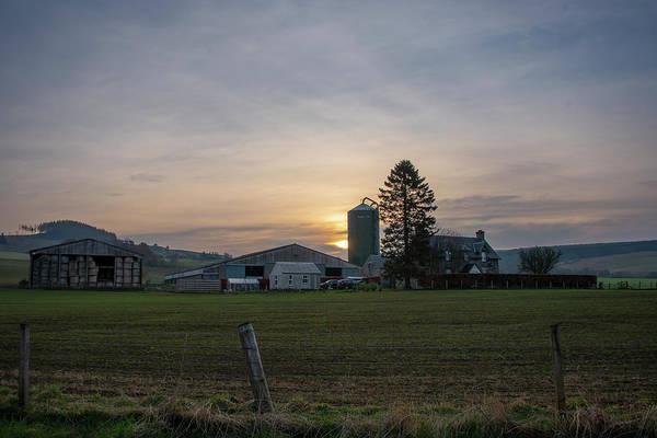 Wall Art - Photograph - Farm Sunrise At Pitlochery Scotland by Bill Cannon