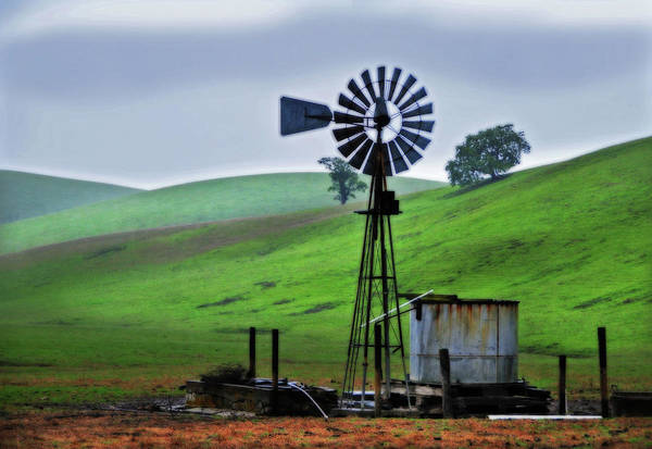 Livermore Wall Art - Photograph - Farm Windmill by Mitch Diamond