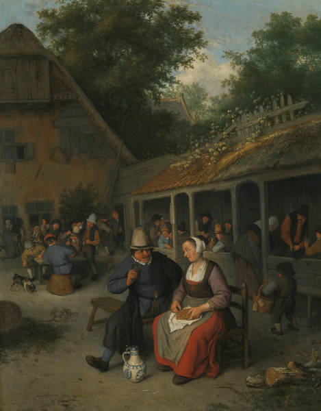 Painting - Farmers Inn by Cornelis Dusart