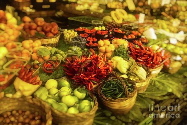 Photograph - Farmers Market - Rome Italy by Mary Machare