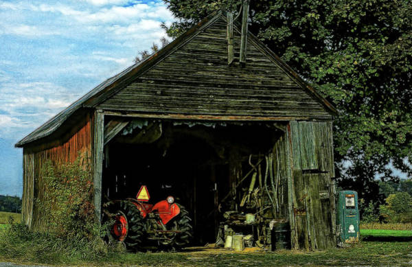 Toolshed Wall Art - Photograph - Farmer's Shed by Mike Flynn