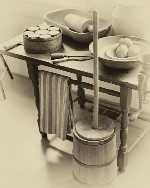 Photograph - Farmhouse Butter Churn by James Eddy