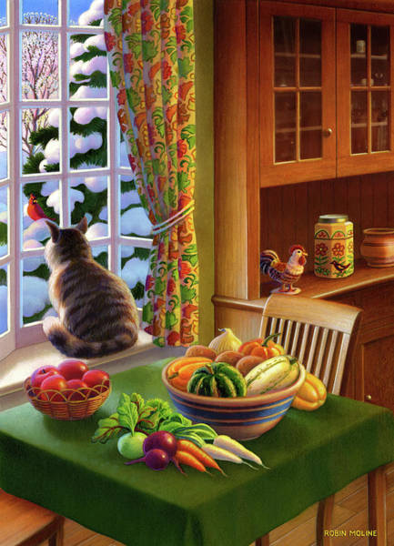 Painting - Farmhouse Cat  by Robin Moline