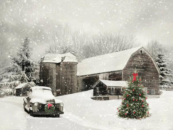 Wall Art - Mixed Media - Farmhouse Christmas by Lori Deiter