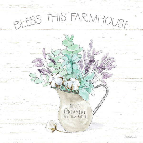 Wall Art - Painting - Farmhouse Cotton II by Beth Grove