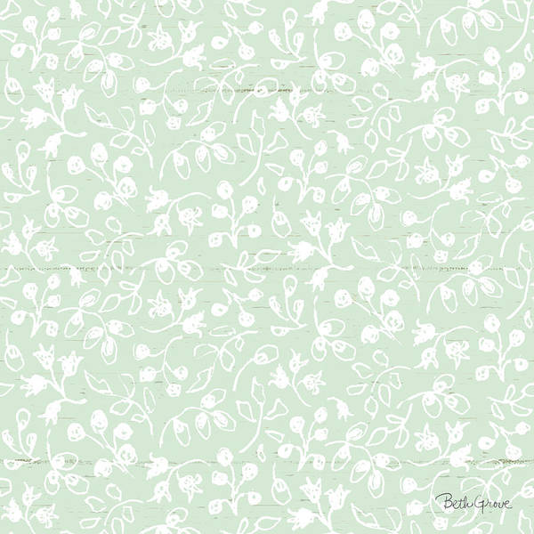 Delicate Painting - Farmhouse Cotton Pattern IIi by Beth Grove
