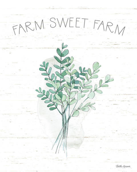 Wall Art - Painting - Farmhouse Cotton V by Beth Grove
