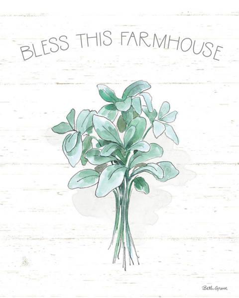 Wall Art - Painting - Farmhouse Cotton Vi by Beth Grove