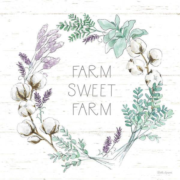 Wall Art - Painting - Farmhouse Cotton Viii by Beth Grove