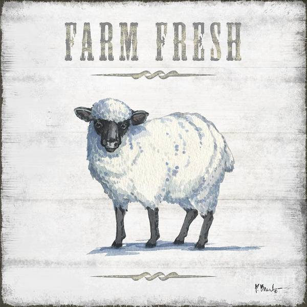Wall Art - Painting - Farmhouse Fresh Iv by Paul Brent