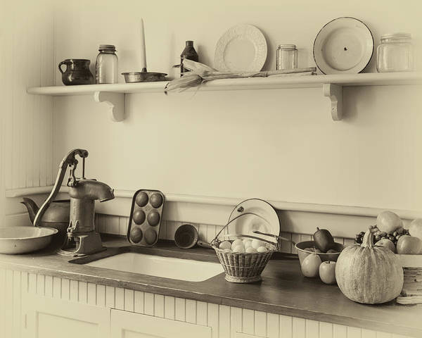 Photograph - Farmhouse Kitchen by James Eddy