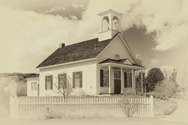 Wall Art - Photograph - Farmhouse School by James Eddy