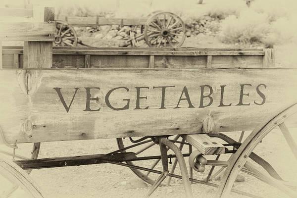 Photograph - Farmhouse Vegetable Wagon by James Eddy