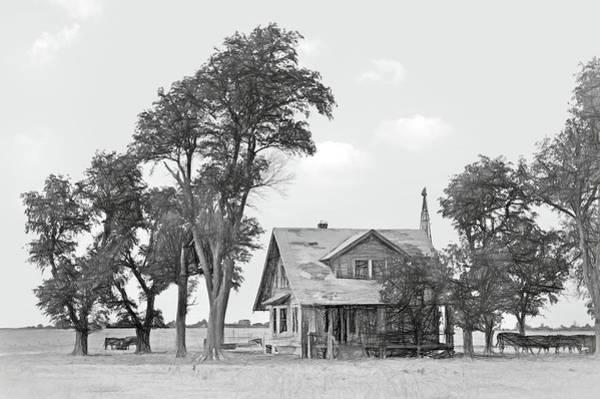 Wall Art - Photograph - Farmhouse - Western Kansas by Nikolyn McDonald