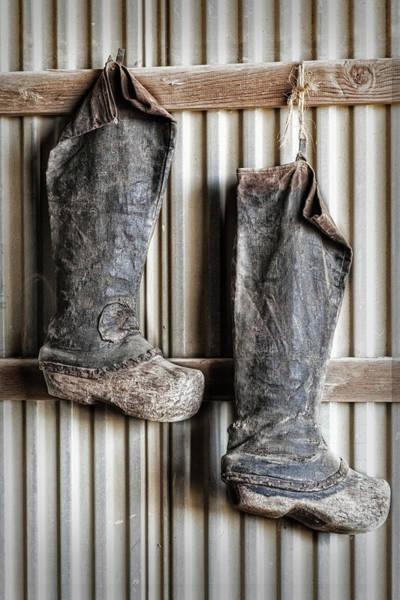 Photograph - Farming Boots by Susan Candelario
