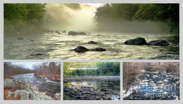 Photograph - Farmington River Collage by Tom Cameron