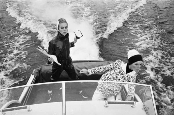 Sweater Photograph - Fashion At Sea by David Cairns