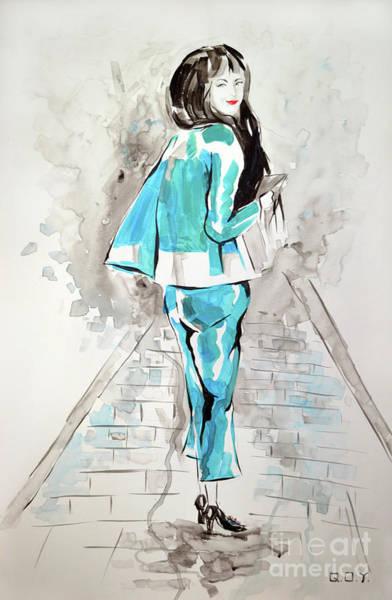 Fashion Girl Blue 2018 Art Print