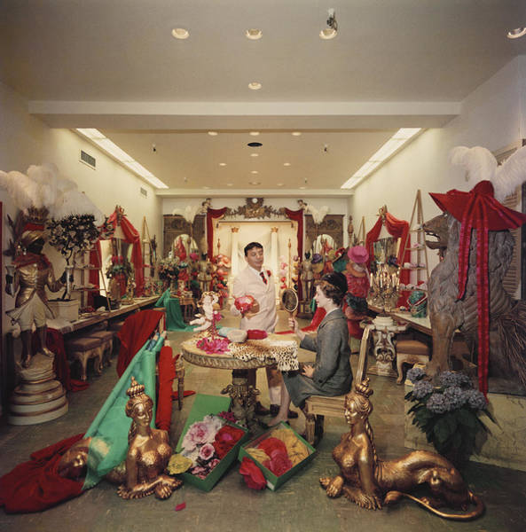 Photograph - Fashion Hatter by Slim Aarons