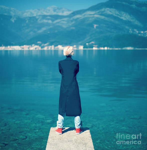 Standing Wall Art - Photograph - Fashion Portrait Of A Stylish Girl On by Evgeniya Porechenskaya