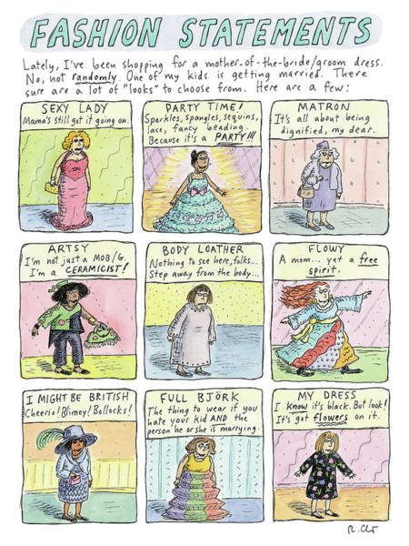 Drawing - Fashion Statements by Roz Chast