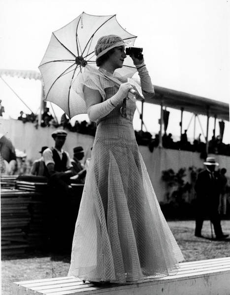 Fashionable Photograph - Fashionable Woman Wearing Long Organdy D by Time Life Pictures