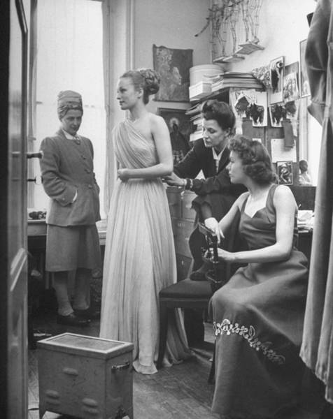 Photograph - Fashions Shows by Nina Leen