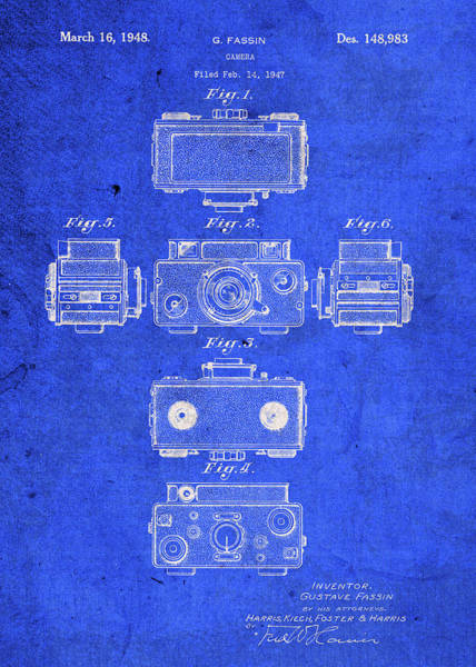 Patent Mixed Media - Fassin Camera Vintage Patent Blueprint by Design Turnpike