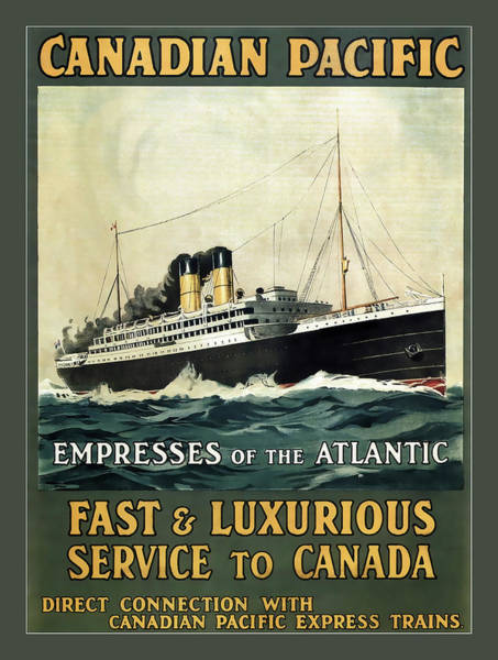 Wall Art - Photograph - Fast And Luxurious Service To Canada C. 1930 by Daniel Hagerman
