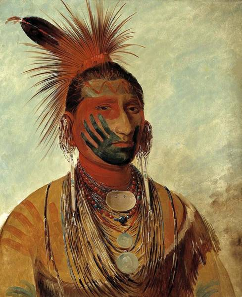 Wall Art - Painting - Fast Dancer, A Warrior by George Catlin
