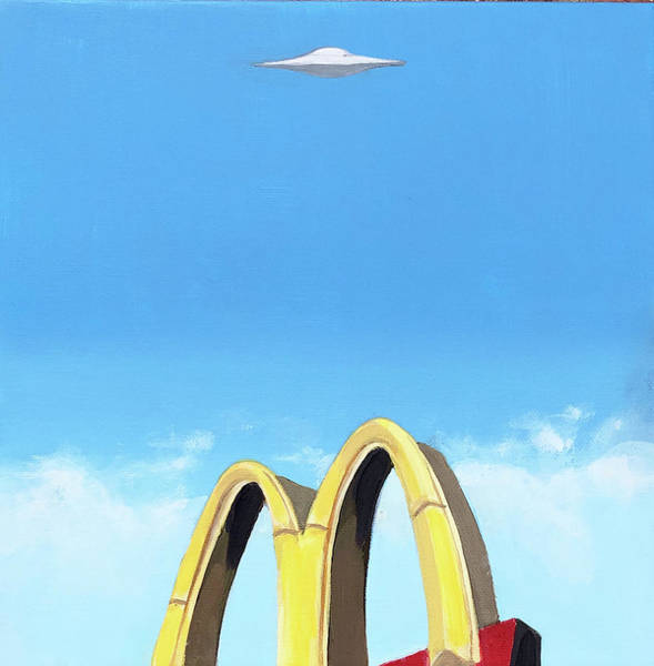 Fast Food Wall Art - Painting - Fast Food Fly By by Jeffrey Bess