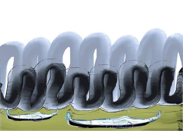 Wall Art - Digital Art - Fat Clouds En Masse by Alexandra Vusir