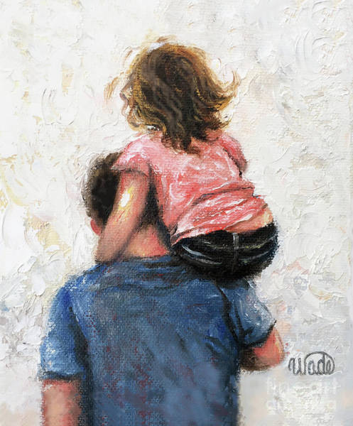 Wall Art - Painting - Father And Daughter, Daddy, Carry Me by Vickie Wade