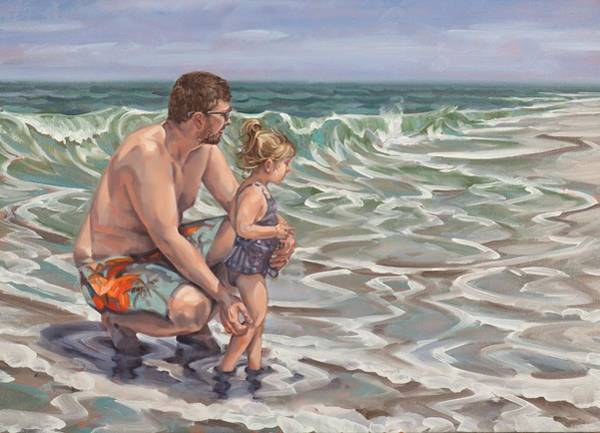 Painting - Father And Daughter by Gary M Long