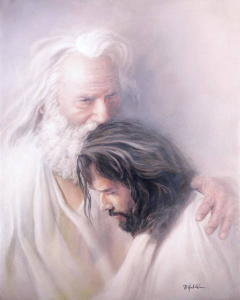Wall Art - Painting - Father And Son by Danny Hahlbohm