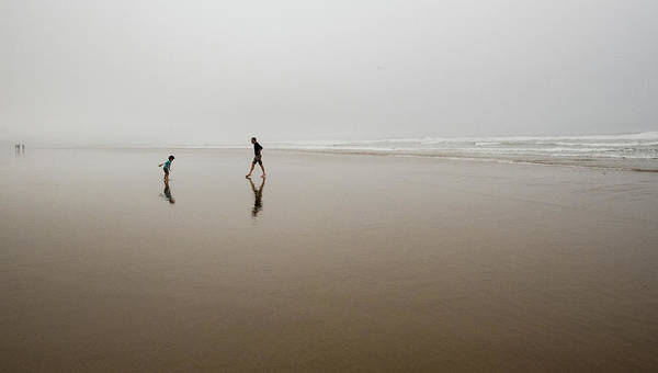 Photograph - Father And Son In Fog by Tom Cochran