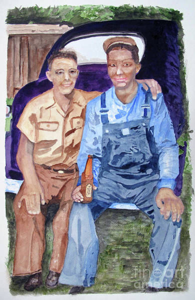 Painting - Father And Son by Sandy McIntire