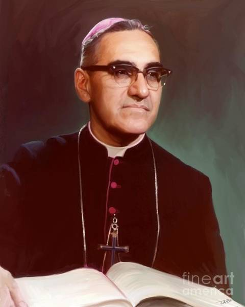 Wall Art - Painting - Father Oscar Romero by Paul Tagliamonte
