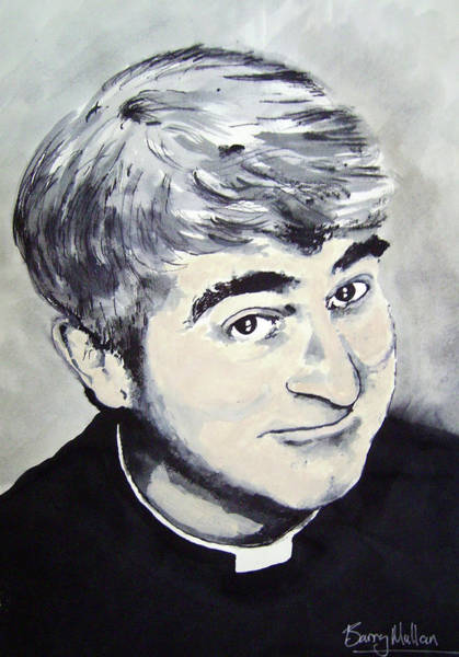 Episode 4 Wall Art - Painting - Father Ted by Barry Mullan