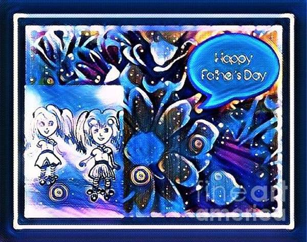 Mixed Media - Father's Day by Debra Lynch