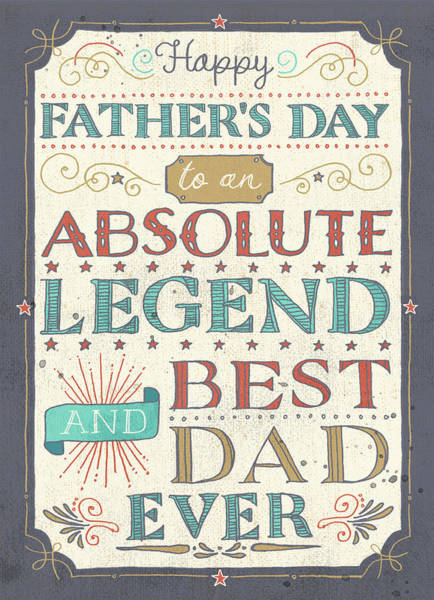 Wall Art - Digital Art - Father's Day Lettering by A.v. Art
