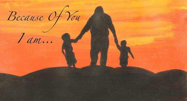 Wall Art - Painting - Fathers Day Painting by Evangeline The Artistic Poet