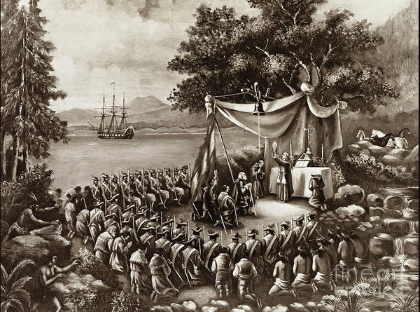 Photograph - Father's Serra's Landing Place The First Mass,  Monterey Attribu by California Views Archives Mr Pat Hathaway Archives