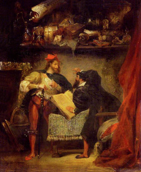 Painting - Faust And Mephistopheles  by Eugene Delacroix